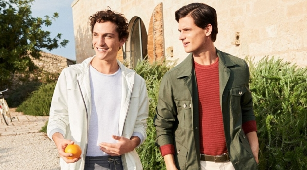 Jaka Mojskerc and Garrett Neff front Canali's spring-summer 2020 campaign.