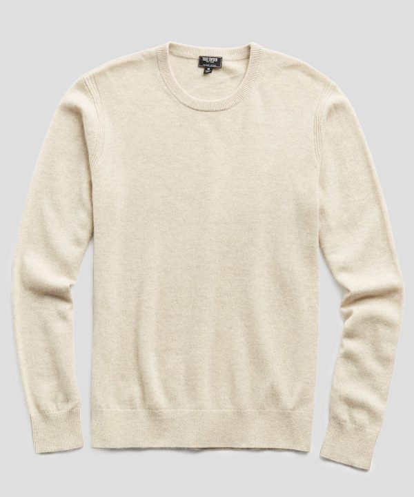 Cashmere Crewneck Sweater in Oatmeal