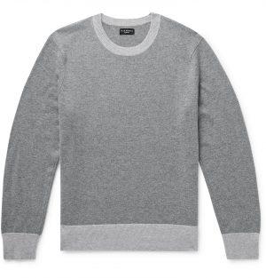 Club Monaco - Contrast-Trimmed Cashmere Sweater - Men - Gray