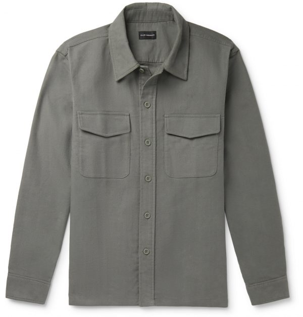 Club Monaco - Cotton-Moleskin Overshirt - Men - Gray