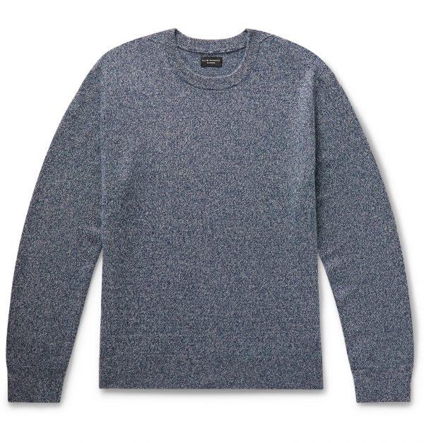 Club Monaco - Mélange Cashmere Sweater - Men - Blue