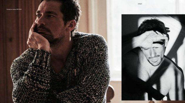 David Gandy Stars in Elle Man Russia Cover Shoot