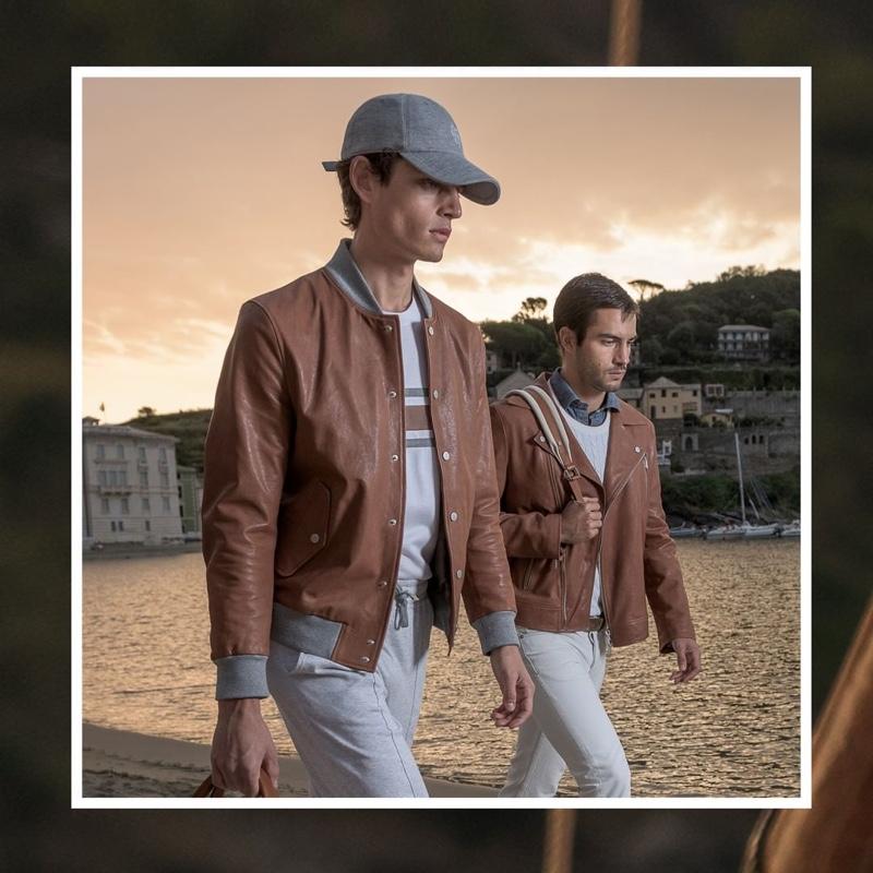 Models Pau Ramis and Aleksandar Rusić front Eleventy's spring-summer 2020 campaign.
