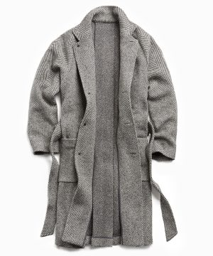 Exclusive Todd Snyder + Private White Herringbone Family Coat