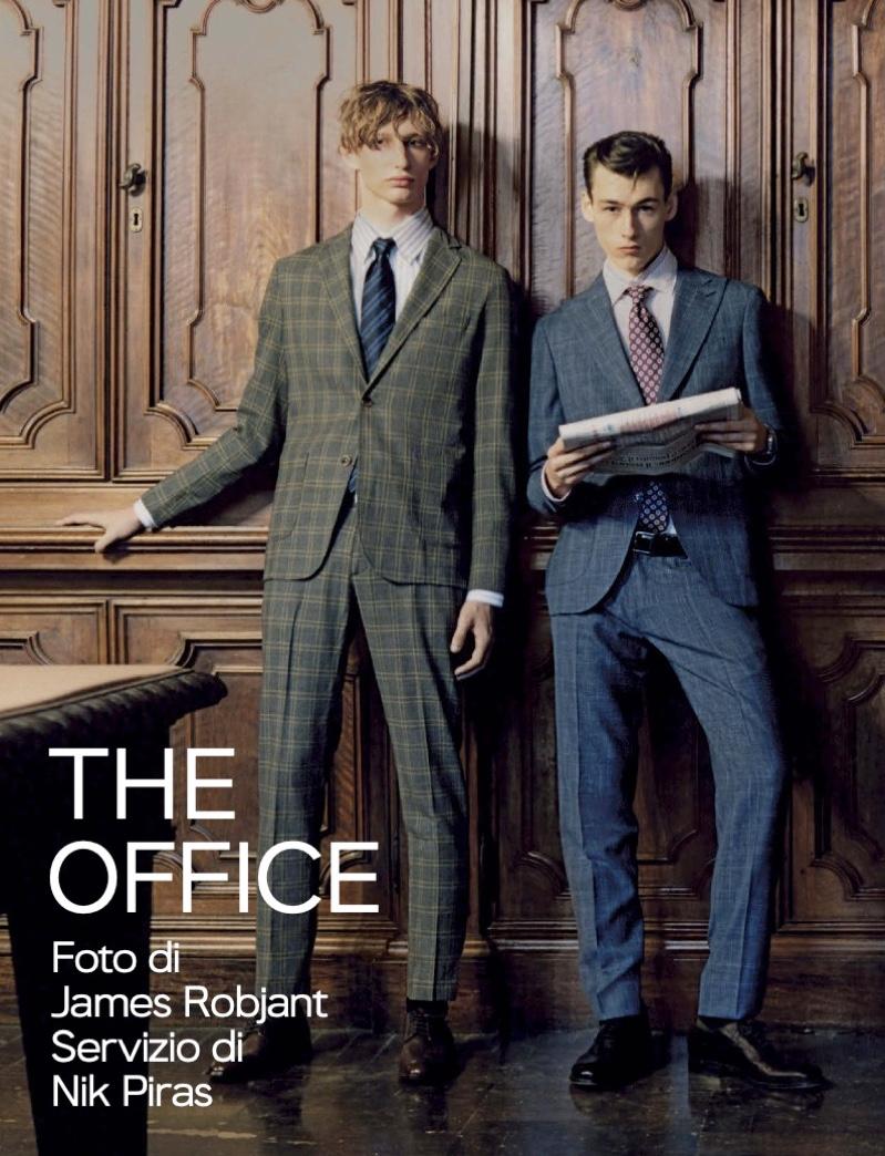 The Office: Krisztian, Zacharie & Declan Suit Up for GQ Italia