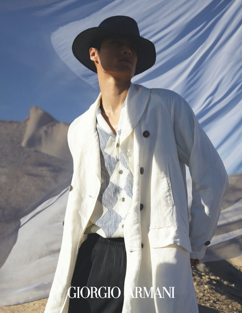 Top model Hao Yun Xiang is a chic vision for Giorgio Armani's  spring-summer 2020 campaign.