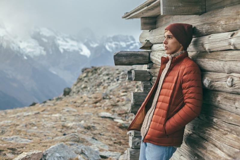 Guy Outdoors Cold Winter Weather Orange Jacket Beanie