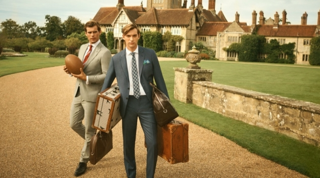 Models Matt Trethe and George Le Page take a British road trip for Hackett London's spring-summer 2020 campaign.
