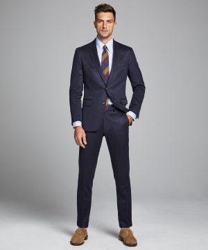 Italian Cashmere Sutton Suit Jacket in Navy
