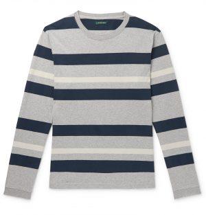 J.Crew - 1994 Striped Mélange Cotton-Jersey T-Shirt - Men - Gray