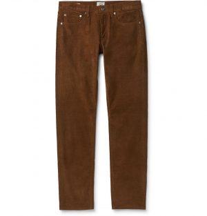 J.Crew - 484 Slim-Fit Stretch-Cotton Corduroy Trousers - Men - Brown