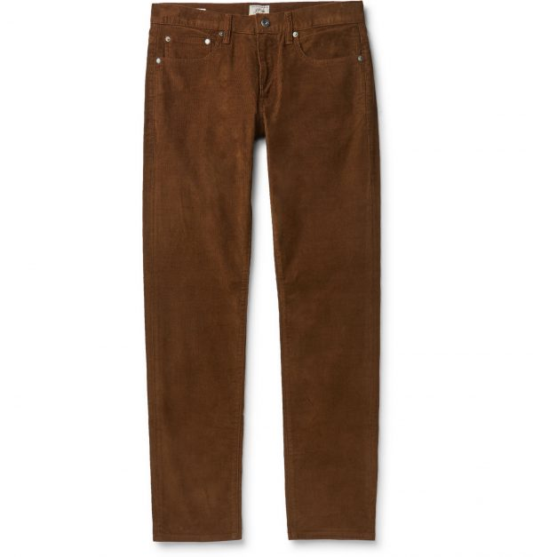 J.Crew - 484 Slim-Fit Stretch-Cotton Corduroy Trousers - Men - Brown