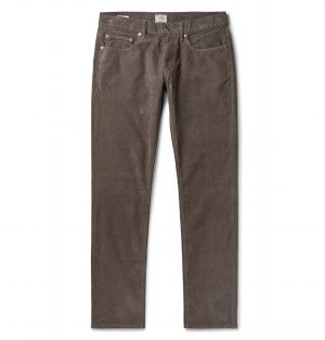 J.Crew - 484 Slim-Fit Stretch-Cotton Corduroy Trousers - Men - Gray