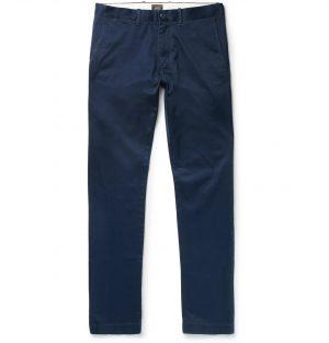 J.Crew - 484 Slim-Fit Stretch-Cotton Twill Chinos - Men - Blue