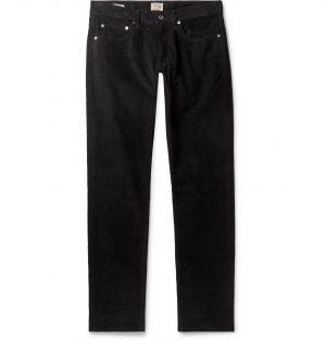 J.Crew - Black 484 Slim-Fit Stretch-Cotton Corduroy Trousers - Men - Black