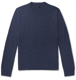 J.Crew - Donegal Merino Wool-Blend Sweater - Men - Blue