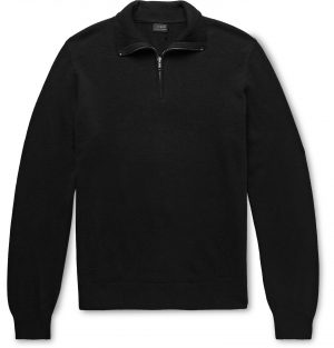J.Crew - Everyday Cashmere Half-Zip Sweater - Men - Black
