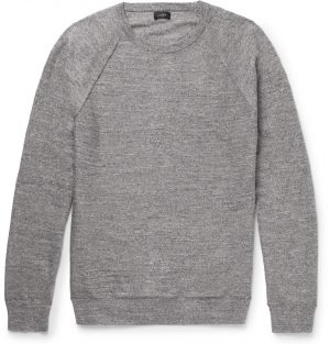 J.Crew - Mélange Cotton-Jersey Sweater - Men - Gray