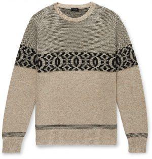 J.Crew - Merino Wool-Blend Jacquard Sweater - Men - Neutrals