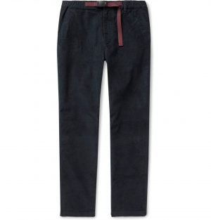 J.Crew - Slim-Fit Belted Stretch-Cotton Corduroy Trousers - Men - Blue