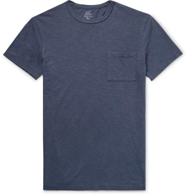 J.Crew - Slim-Fit Garment-Dyed Slub Cotton-Jersey T-Shirt - Men - Blue