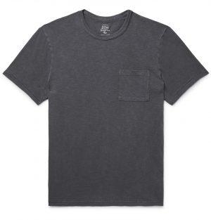 J.Crew - Slim-Fit Garment-Dyed Slub Cotton-Jersey T-Shirt - Men - Gray