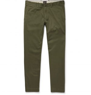 J.Crew - Stretch-Cotton Twill Chinos - Men - Green