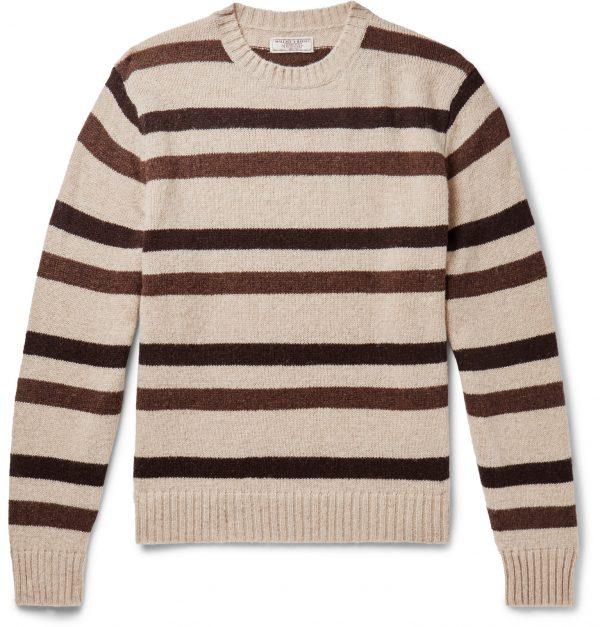 J.Crew - Striped Wool Sweater - Men - Neutrals