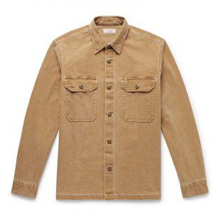J.Crew - Wallace & Barnes Cotton-Blend Canvas Shirt Jacket - Men - Neutrals