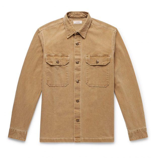 J.Crew - Wallace & Barnes Cotton-Blend Canvas Shirt Jacket - Men - Neutrals