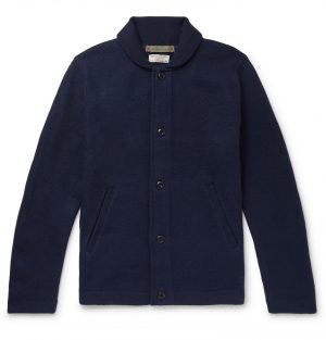 J.Crew - Wallace & Barnes Merino Wool-Felt Cardigan - Men - Blue