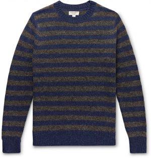 J.Crew - Wallace & Barnes Striped Wool Sweater - Men - Blue