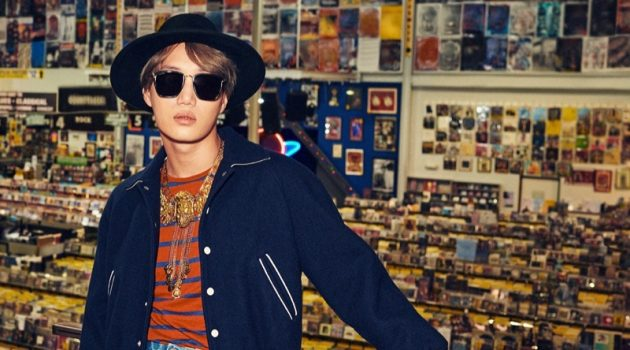 Kai stars in Gucci's spring-summer 2020 eyewear campaign.