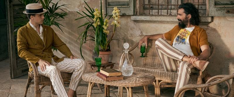 Models Or Boker and Paraskevas Boubourakas come together for Lardini's spring-summer 2020 campaign.