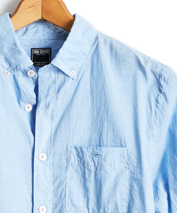 Lightweight Button Down Shirt in Blue