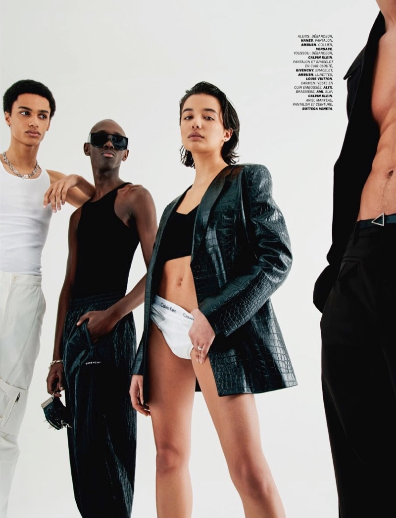 Etienne, Alexis + More Peacock for Lui Magazine