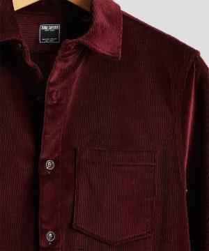 Made in New York Corduroy Shirt Jacket in Burgundy