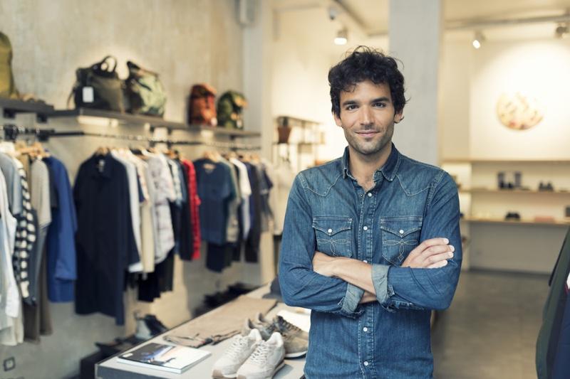 Man Clothing Shop Denim Jacket