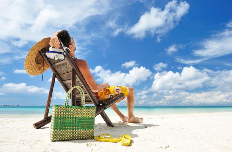 Man Hat Sandals Beach