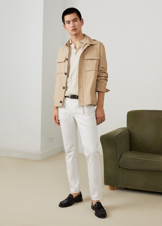 Model Kohei Takabatake is safari chic in a look from Mango.