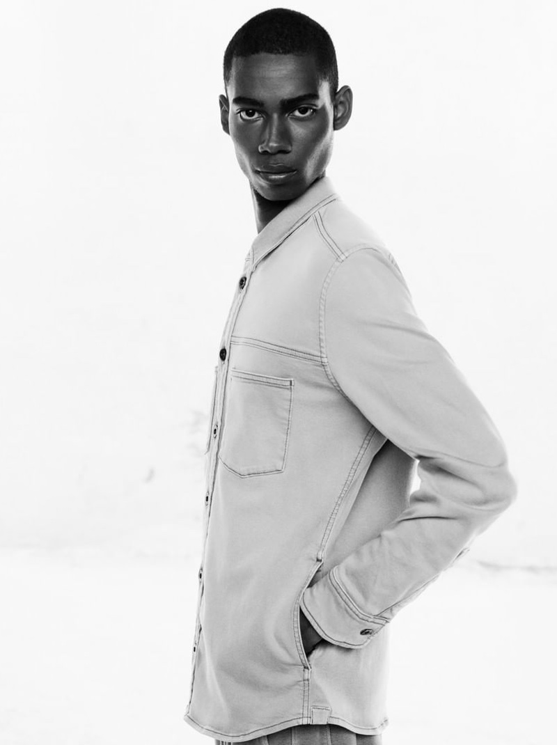 Keiron Caynes dons denim for Marc O'Polo's spring-summer 2020 campaign.