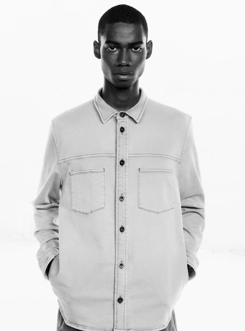 Front and center, Keiron Caynes stars in Marc O'Polo's  spring-summer 2020 campaign.