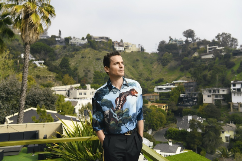 Matt Bomer connects with Neiman Marcus for its spring 2020 men's campaign. He wears a standout look from Valentino.