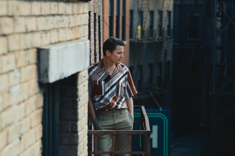 Actor Matt Bomer sports Dolce & Gabbana for Neiman Marcus' spring 2020 men's campaign.
