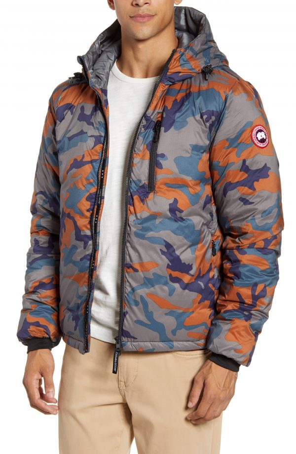 Men's Canada Goose Lodge Slim Fit Packable 750 Fill Power Down Hooded Jacket, Size X-Large - Blue
