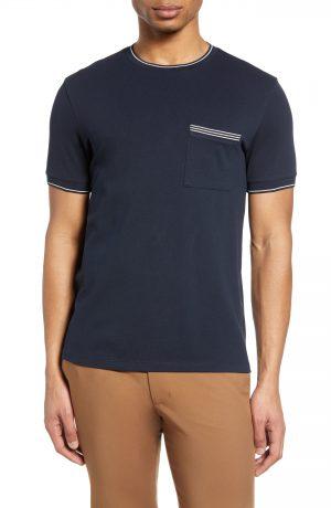 Men's Club Monaco Crewneck Pocket T-Shirt, Size X-Large - Blue