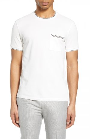 Men's Club Monaco Crewneck Pocket T-Shirt, Size X-Small - White