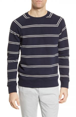 Men's Club Monaco Double Stripe Sweatshirt, Size Small - Blue