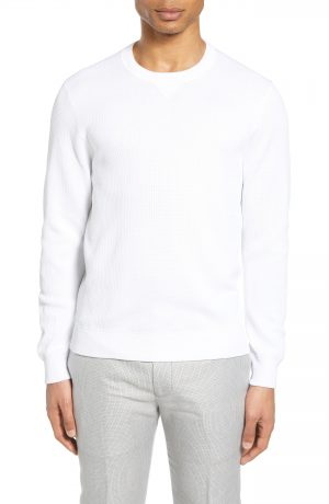 Men's Club Monaco Feel Good Sweatshirt, Size Small - White