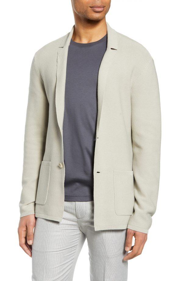 Men's Club Monaco Knit Blazer, Size Small - Beige